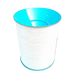 White nylon coated wire